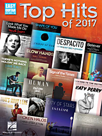 Top Hits of 2017 for Easy Guitar