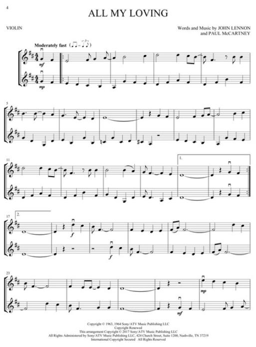 Disney Songs for Violin Duet   Hal Leonard Online